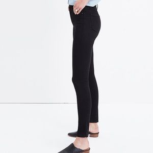 """Madewell 9"""" High Rise Black Skinny Jeans Size 28"""